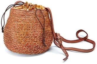 Majo Cuoio & Gold Bucket Bag