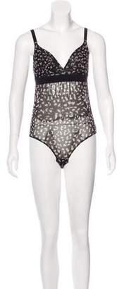 Stella McCartney Printed Mesh Bodysuit