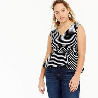 J.Crew Sleeveless tie-waist peplum top in stripe