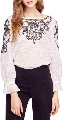 Free People Everything I Know Cotton Peasant Blouse