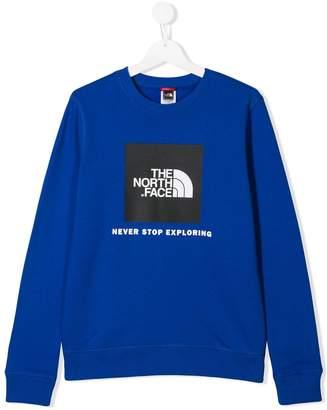 The North Face Kids TEEN logo print sweatshirt