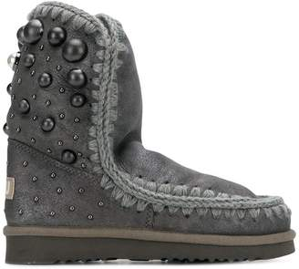 Mou back dome stud boots