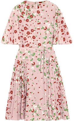 Valentino - Floral-print Silk Crepe De Chine Dress - Pink $3,750 thestylecure.com