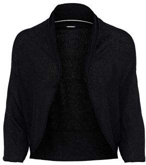 Elie Tahari Shelby Ribbed Wool-Blend Shrug