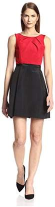 Society New York Women's Sleeveless Pleated Bodice Dress