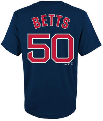 Majestic Mookie Betts Boston Red Sox Official Player T-Shirt, Big Boys (8-20)