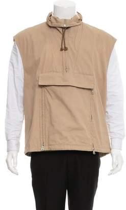 Prada Zip-Up Woven Vest