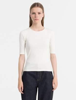 Calvin Klein slim fit rib jersey top