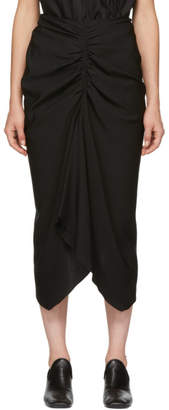 Isabel Marant Black Tracy Techno Satin Skirt