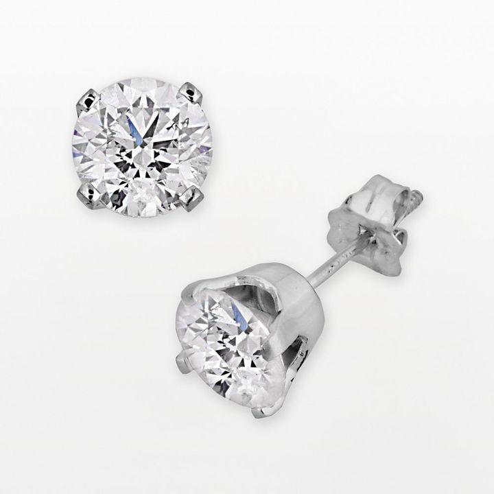 14k White Gold 2-ct. T.W. Diamond Solitaire Stud Earrings