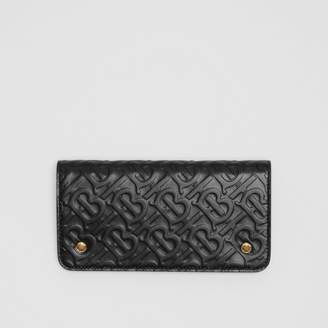 Burberry Monogram Leather Phone Wallet