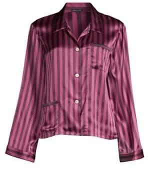 Morgan Lane Ruthie Silk Striped Pajama Top