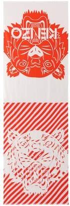Kenzo Printed cotton-blend scarf