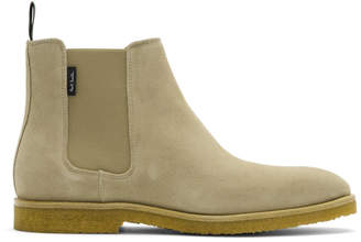Paul Smith Taupe Suede Andy Chelsea Boots