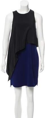 Tibi Silk Overlay Sleeveless Dress