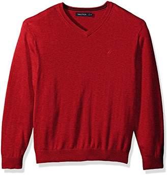 Nautica Men's Standard Long Sleeve Solid Classic V-Neck Sweater
