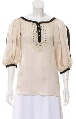 Temperley London Silk Embellished Top w/ Tags