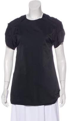 Marni Elongated Short Sleeve Blouse