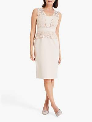 Phase Eight Harmony Lace Dress, Cameo
