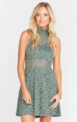 Show Me Your Mumu Alexa Dress ~ Fleur De Lis Lace Rosemary