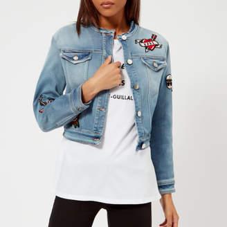 Karl Lagerfeld Women's Captain Patch Denim Jacket