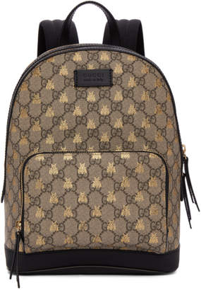 Gucci Brown GG Supreme Bestiary Backpack