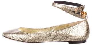 Alexander McQueen Metallic Ballet Flats