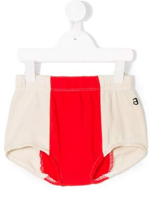 Bandy Button color block shorts