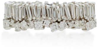 Suzanne Kalan 18K White Gold Diamond Ring