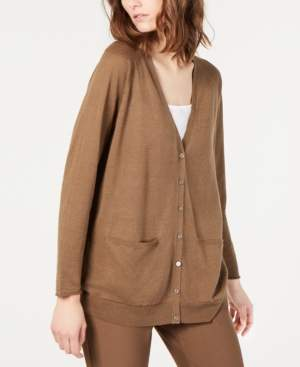 Eileen Fisher V-Neck Button-Down Cardigan