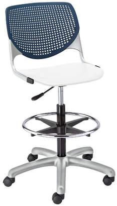 Latitude Run Eiland Poly Adjustable Mid-Back Drafting Chair