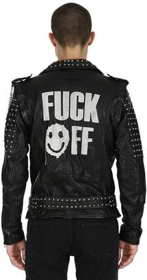 Love Yourself Studded Leather Jacket