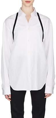 Maison Margiela Women's Ribbon-Trimmed Cotton Poplin Shirt