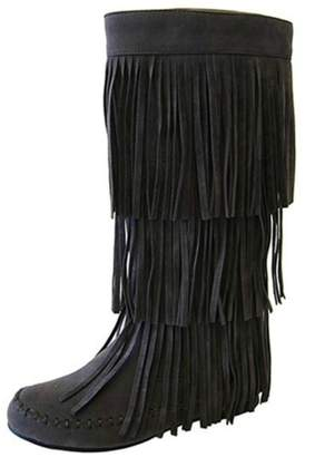 Refresh Gray Fringe Boots
