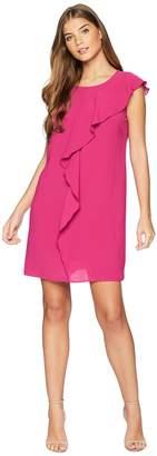 Adrianna Papell Gauzy Crepe Cascading Drape Dress Women's Dress