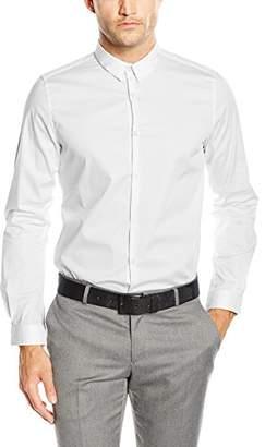Tom Tailor Men's Long Sleeve Casual Shirt - White