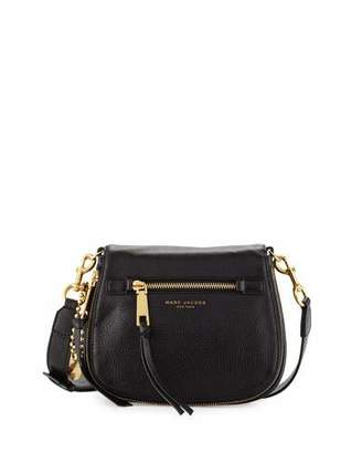 Marc Jacobs Recruit Small Leather Saddle Bag, Black $375 thestylecure.com