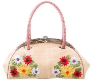 Dolce & Gabbana Water Snake-Trimmed Frame Bag Natural Water Snake-Trimmed Frame Bag