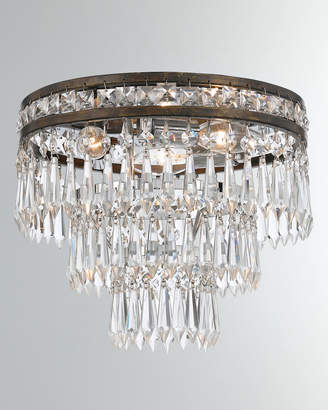 Crystorama Mercer 3-Light Clear Crystal Flush Mount