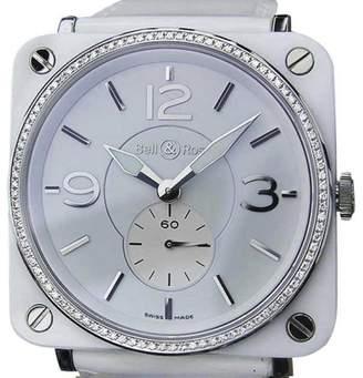 Bell & Ross Ceramic Diamond Quartz 39mm Luxury Dress Womens Watch 2010