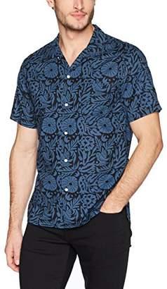 Life After Denim Men's Short Sleeve Slim Fit Otomi Printed Camp Shirt
