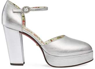 Gucci Women's Agon Leather Mary Jane Pumps