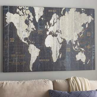 Mercury Row 'Old World Map' Graphic Art Print on Wrapped Canvas Format: Canvas,