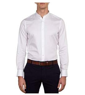 James Harper Hoddle Mandarin Collar Slim Fit Shirt