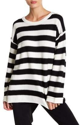 ATM Anthony Thomas Melillo Oversized Striped Wool Sweater
