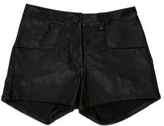ODD Leather Mini Shorts