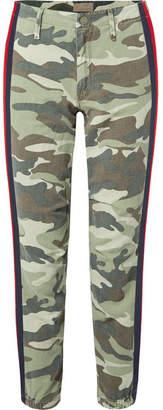 Mother No Zip Misfit Striped Camouflage-print Cotton-blend Track Pants
