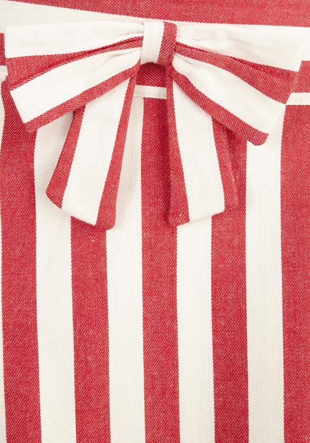 Bea Yuk Mui & Dot Partake in Peppermint Skirt in Stripes