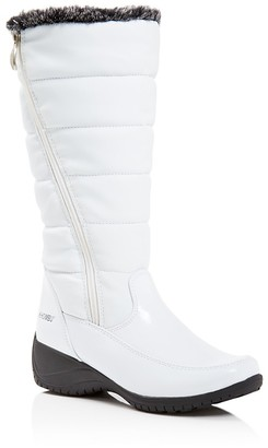 Khombu Abigail Quilted Tall Cold Weather Boots $95 thestylecure.com