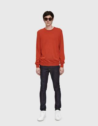 Jil Sander Long Sleeve Sweater in Bright Red